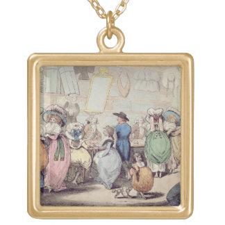 La tienda de un sombrerero, publicada en 1787 (col grimpolas