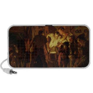 La tienda del herrero (aceite en lona) iPod altavoz