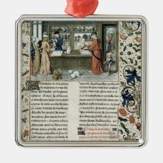 La tienda del joyero, de Lapidaire de Mandeville Adorno Cuadrado Plateado