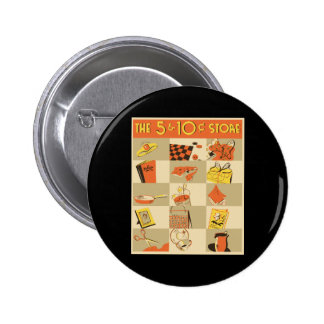 La tienda del níquel y de moneda de diez centavos pin