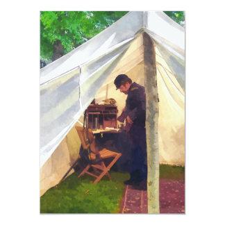 La tienda del oficial de la guerra civil invitación 12,7 x 17,8 cm