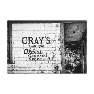 La tienda general del gris impresiones en lona