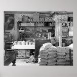 La tienda general, Moundville, Alabama: 1936 Póster