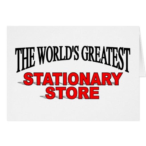 La tienda inmóvil más grande del mundo tarjeta