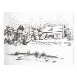 La tienda, la casa de Kemp y los vigilantes de Tarjeta Postal