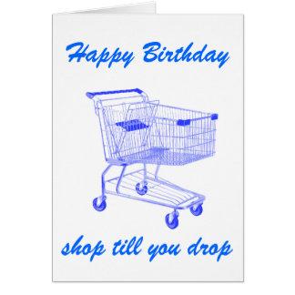 La tienda le labra tarjeta de cumpleaños del desce