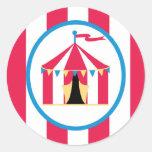 la tienda linda de la diversión del circo del pegatinas redondas