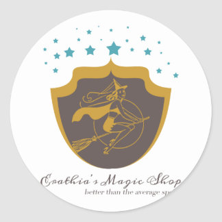 La tienda mágica de Erathia Etiquetas Redondas
