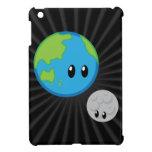 La tierra ama la luna linda iPad mini cárcasas