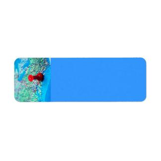 La TIERRA AZUL del OCÉANO del MAPA de Mapa-con-per Etiqueta De Remite
