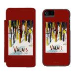 La tierra de la sol - esquís que se colocan en funda cartera para iPhone 5 watson