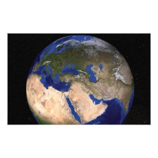 La tierra de mármol azul 2 de la generación cojinete