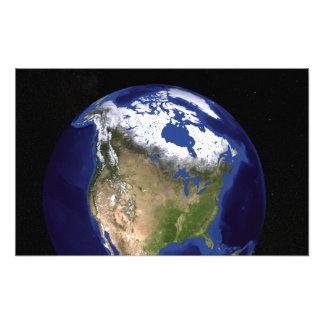 La tierra de mármol azul 5 de la generación cojinete
