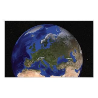 La tierra de mármol azul 6 de la generación cojinete
