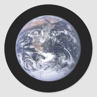 """"" La tierra de mármol azul parece de Apolo 17 Pegatinas Redondas"