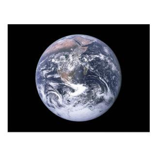 """"""""""" La tierra de mármol azul parece de Apolo 17 Postales"""