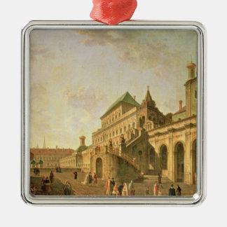 La tierra del boyardo en la Moscú el Kremlin, 1801 Adorno Navideño Cuadrado De Metal