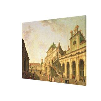 La tierra del boyardo en la Moscú el Kremlin, 1801 Impresión En Tela