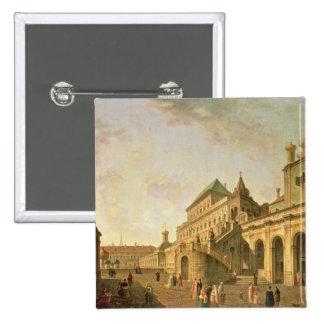 La tierra del boyardo en la Moscú el Kremlin, 1801 Pin Cuadrada 5 Cm