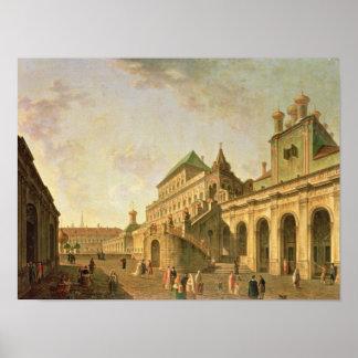 La tierra del boyardo en la Moscú el Kremlin, 1801 Póster