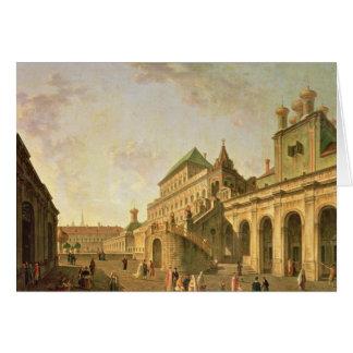 La tierra del boyardo en la Moscú el Kremlin, 1801 Tarjeta De Felicitación