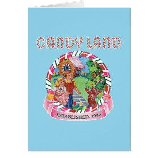 La tierra del caramelo estableció 1945 tarjeta de felicitación