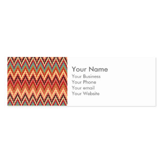 La tierra del monograma entona el modelo de zigzag tarjetas de visita mini
