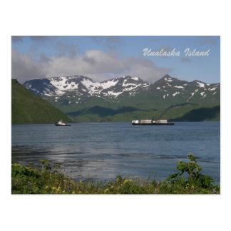 La tierra del norte barge adentro la bahía de Unal Postales
