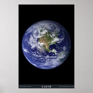 La tierra del planeta póster