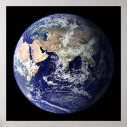 La tierra desde arriba: Visión Asia y África Póster