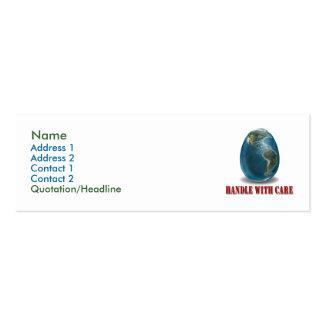 La tierra dirige con la tarjeta del perfil del cui tarjetas de visita