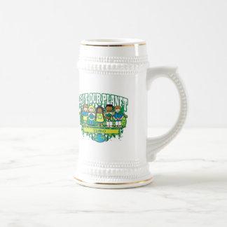 La tierra embroma Idaho Jarra De Cerveza
