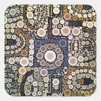 La tierra entona el modelo de mosaico de los pegatina cuadrada