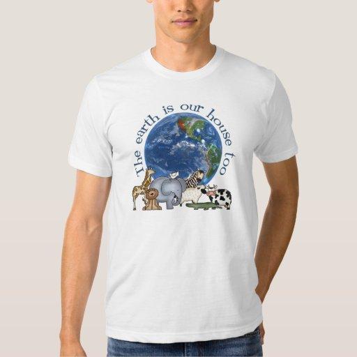 La tierra es nuestra camiseta de la casa también polera