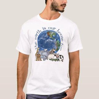 La tierra es nuestra camiseta de la ecología de la