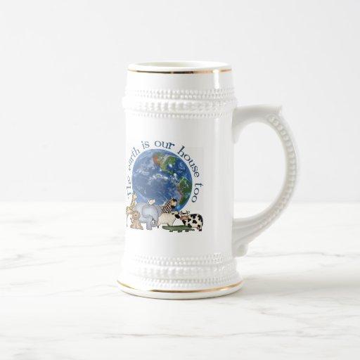 La tierra es nuestra cerveza Stein de la casa tamb Tazas
