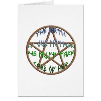 la tierra es nuestra madre tarjeta de felicitación