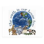 La tierra es nuestras postales de la casa también