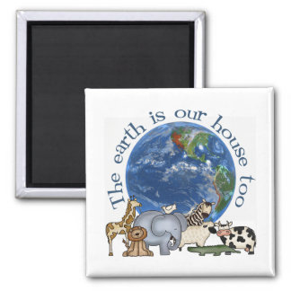 La tierra es nuestro imán de la ecología de la cas