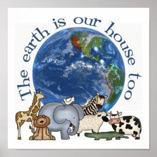 La tierra es nuestro poster de la ecología de la c póster