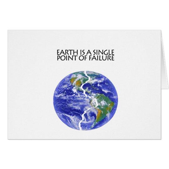 La tierra falla tarjeta de felicitación