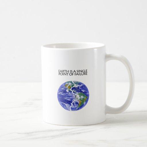 La tierra falla taza de café