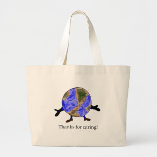 La tierra le agradece tote del globo bolsas