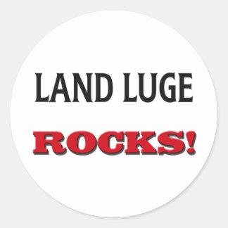 La tierra Luge las rocas Pegatina Redonda