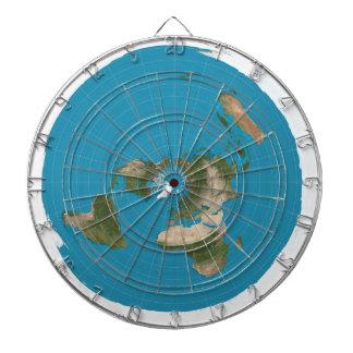 La tierra plana AE azimutales traza alrededor de