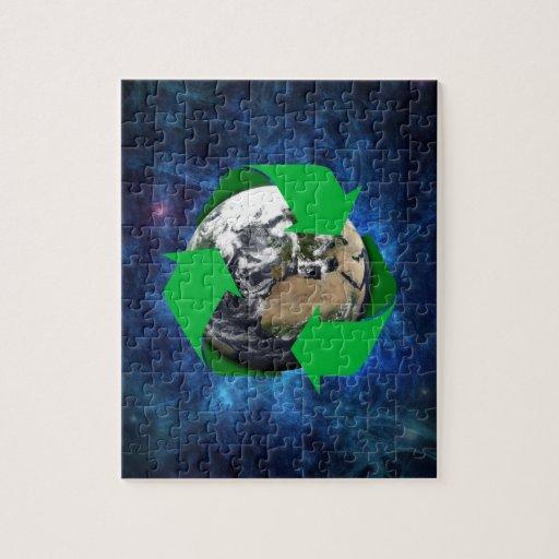 La tierra recicla puzzle