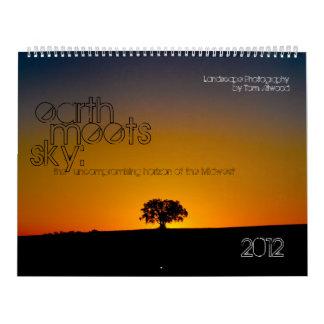 La tierra resuelve el calendario del paisaje del c