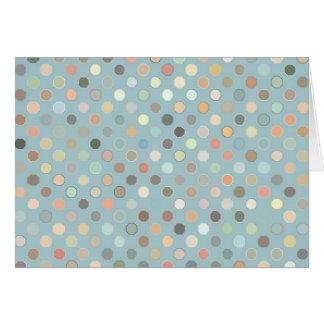 La tierra retra de los puntos entona azules tarjeta de felicitación