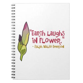 La tierra ríe en flor libros de apuntes con espiral