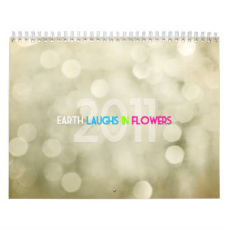 La tierra ríe en flores calendario de pared